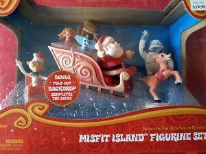 MISFIT ISLAND Figurine Set 2013 rudolph the red nosed reindeer misfit figure NEW