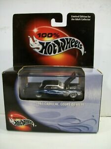 Hot wheels Adult Cool Collectible 100%  1963 Cadillac Coupe De Ville
