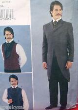 SEWING PATTERN Butterick 3721 Historical VICTORIAN COAT VEST Mens L-XL 42-48