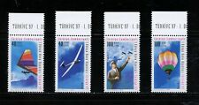 N500   Turkey  1997  aviation gliders aircraft balloons   4v.    MNH