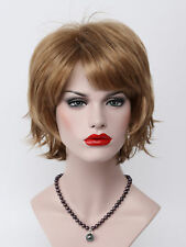 Light Strawberry Blonde Short Anti-Alice Women Everyday Daily Life Full Wig