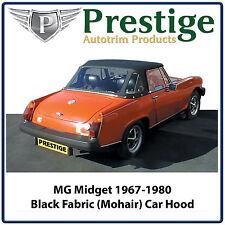 MG Midget / AH Sprite Car Hood Hoods Soft Top Black Fabric Mohair 1967-1980