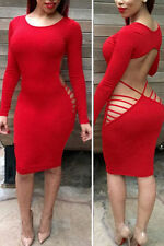 Polyester Party Long Sleeve Regular Size Dresses for Women