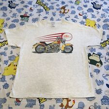Custom Chrome T-Shirt 1995 Motorcycle Harley Davidson VTG 90s Flames