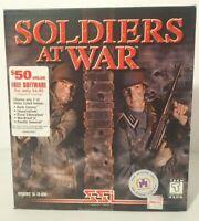 SOLDIERS AT WAR CD ROM PC WWII Game Original BIG BOX Strategic Simulations 1998