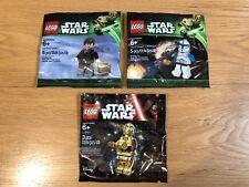 🔹 3X/Sellado 🔹 Lego Star Wars Minifigura polybags Paquete Colección 🔹 exclusivo 🔹