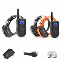 Petrainer Dog Shock Collar Rechargeable Remote Control Training Collar for Dogs