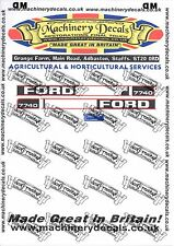 FORD 7740 DECALS BONNET