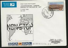 RSA 1983 FFC  Cover  Johannesburg to London
