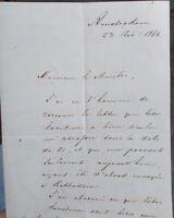 1866 166) AMSTERDAM LETTERA DI POLITICO SU SITUAZIONE OLANDESE