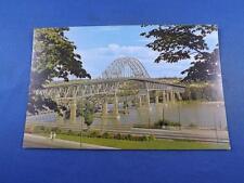 PATTULLO BRIDGE POSTCARD NEW WESTMINSTER BRITISH COLUMBIA FRASER RIVER CANADA