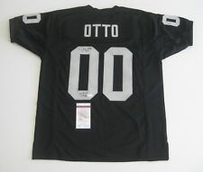 5a71bfb70 JIM OTTO signed autographed OAKLAND RAIDERS Custom Black Jersey w HOF 1980  - JSA