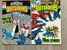 THE OUTSIDERS #27 and 28 - DC Comics  Millennium Week 1 and 5  1988 NM