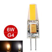 High Power 6W G4 Mini LED Lampadina Corn Light COB Bianco freddo/caldo AC DC 12V