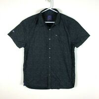 Superdry Indigo Loom Oxford Short Sleeve Shirt Size Men's XXL 2XL