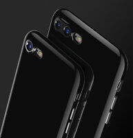 Ultra thin JET BLACK Case shockproof Silicone TPU Cover for iPhone 8 6S 7 Plus