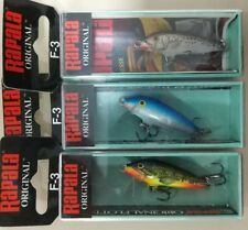 RAPALA original Floating F3-SSM, F3-B, F3-FMN lote 3 Rapala - lot 3 lures