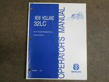 New Holland 32LC 32 LC loader owners & maintenance manual