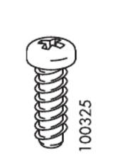 4x IKEA EURO SCREW FLAT CX STEEL 18MM PART # 100325