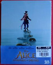blu ray 3D+2D steelbook alice attraverso lo specchio through the looking glass v