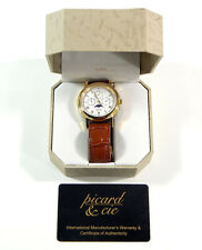 Picard & Cie Mens Stainless Steel Watch With Leather Band