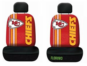 Kansas City Chiefs NFL Printed Logo Car Seat Cover-Set of Two