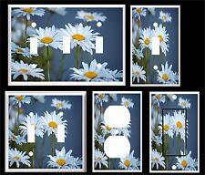 WHITE DAISY LIGHT SWITCH COVER PLATE #5