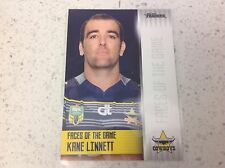 2017 NRL TRADERS FACES OF THE GAME, KANE LINNETT , FG 27/48.