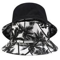 Two Side Bucket Hat For Men Women Hip Hop Fisherman Hat Adult Summer Flat  9H