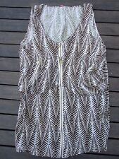 ZAMBIA SHAKER DRESS SIZE EU 38 US 2 LIKE NEW ZIP FRONT 50 CM across bust 10-12?