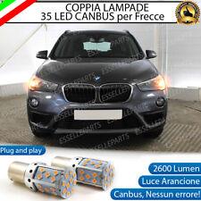 COPPIA LAMPADE PY21W BAU15S CANBUS 3.0 35 LED BMW X1 F48 FRECCE ANTERIORI