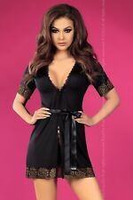 LIVCO CORSETTI Kendra Luxury Super Soft Dressing Gown and Matching G-String Set
