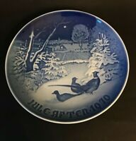 Vintage 1970 B & G Plate Pheasants In The Snow At Christmas Denmark