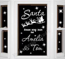 SANTA PLEASE STOP HERE STICKER CHRISTMAS WINDOW STICKER XMAS DECORATION  NS51