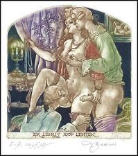 David Bekker 2002 Exlibris C4 Casanova Erotic Erotik Nude Nudo Woman Sex 802