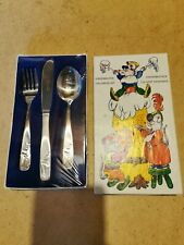 Monogram Stainless Steel Korea Children's Cutlery Set in box