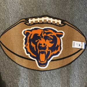 Chicago Bears Mascot Decorative Logo Football  Door Mat Room Mat Orange Blue Brw