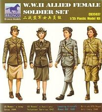 BRONCO CB35037 1/35 WWII Allied Female Soldier Set