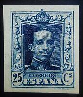 SPAIN 1922  ☆ ALFONXO XIII 25Cs Ed. NE-23s w-SLAB ☆ CERT. C.M.F ☆ MNH ☆CV $1200