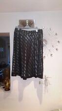 MONSOON Size 14  Black  Silk Mix Flare Skirt