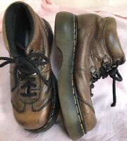 Wms Vintage DR MARTENS Brown Leather Ankle Boot AW 004 8547 Sz 7M/EUR 37.5/UK 5