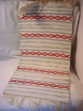 New listing Quality Woven Dresser or Table Runner White w Color Accent 15 by 31 inch