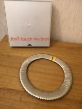 BREIL EDEN SNAKE Brushed Stainless Steel Necklace Boxed
