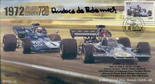 1972 JPS Lotus 72D, Tyrell 003 Marcas Escotilla F1 Cubierta firmado Andrea de Adamich