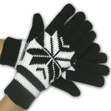 Ladies Anti-Freeze Stretch Gloves  Winter Insulated Fleece - 2 Pack  Sherpa