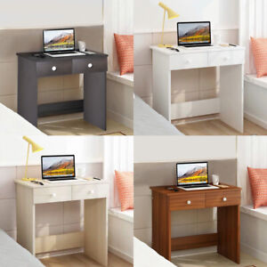 Wooden Makeup Jewelry Dressing Computer Table Desk With 2 Drawers Bedroom UK