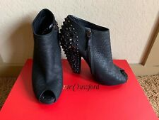 $2250 GIVENCHY Embossed leather Embellished boots booties shoes SIZE 9