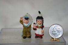 Miniature Dollhouse Vintage Native American Childs Toy Boy & Girl Doll 1:12 NR