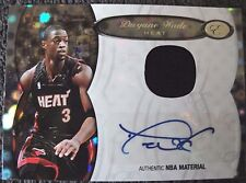 DWYANE WADE AUTO JERSEY #14/25 2006/07 BOWMAN ELEVATION MIAMI HEAT