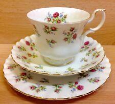 "Royal Albert Montrose Shape ""Winsome"" Pattern Tea Cup Trio."